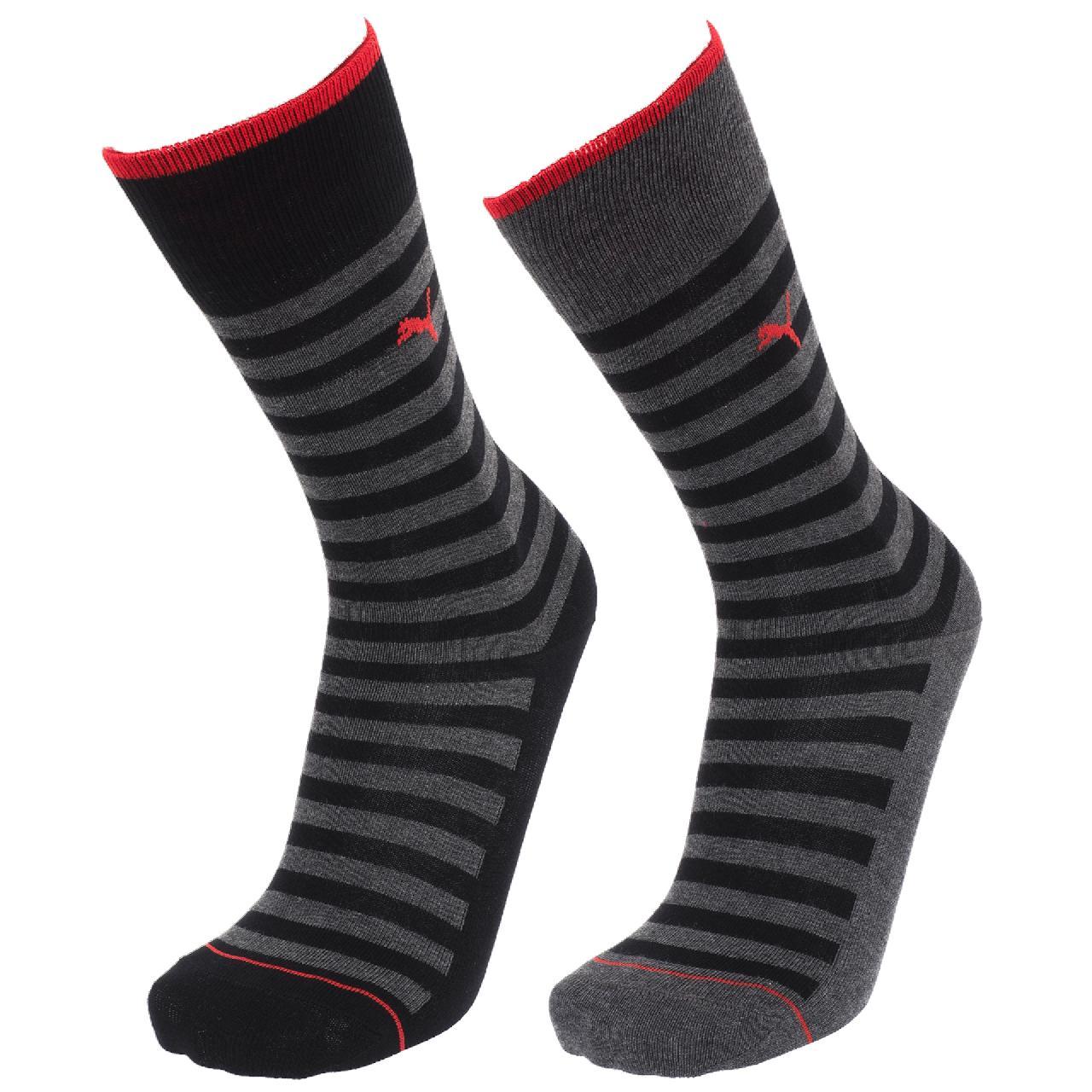 Chaussettes-Puma-Classic-black-stripes-x2-Noir-57037-Neuf