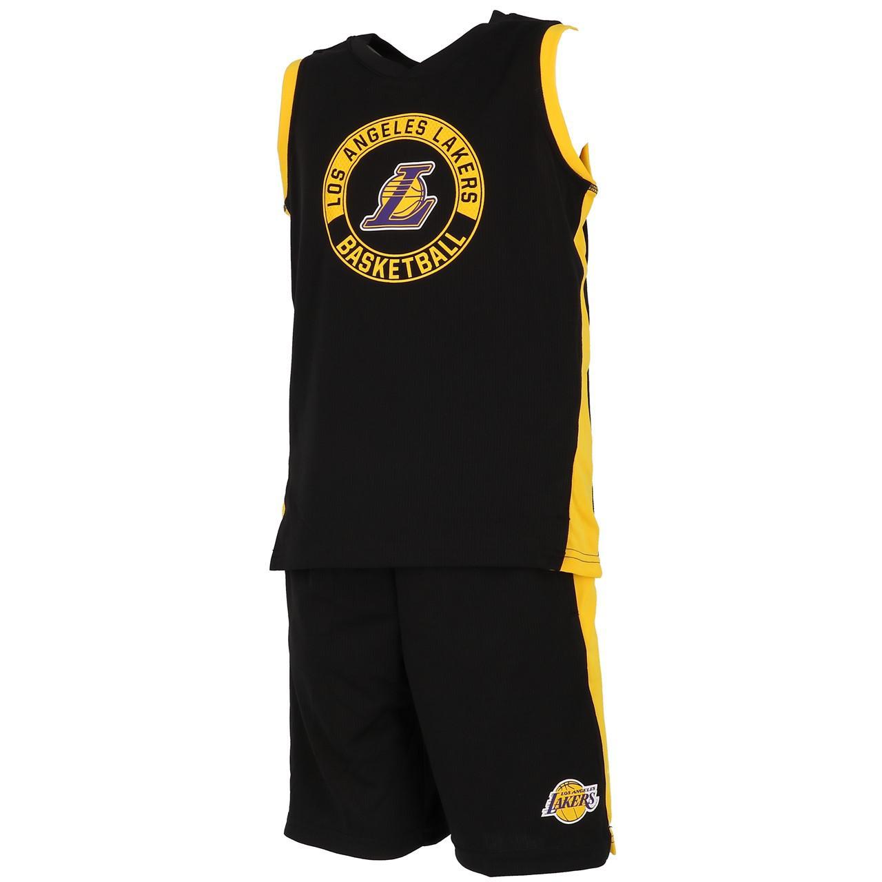 Ensemble-set-Outstuff-Lakers-minikit-maillot-short-Noir-57655-Neuf