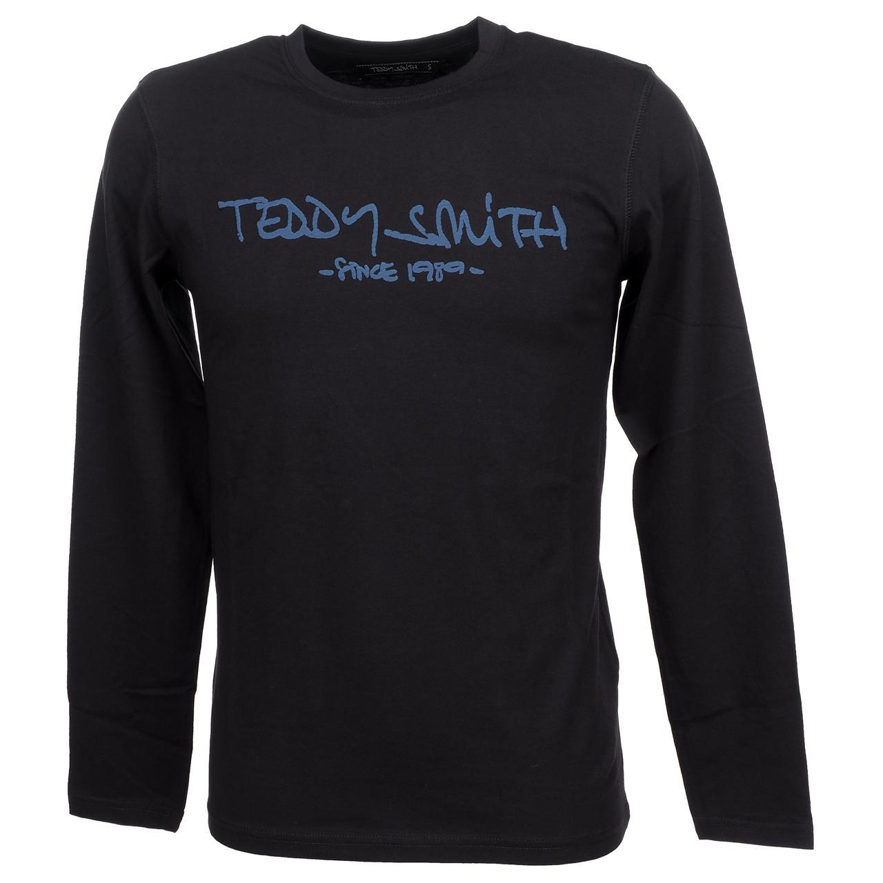 T-Shirt-Long-Sleeves-Teddy-Smith-Ticlass-3-Dk-Navy-ML-Tee-Blue-59454-New