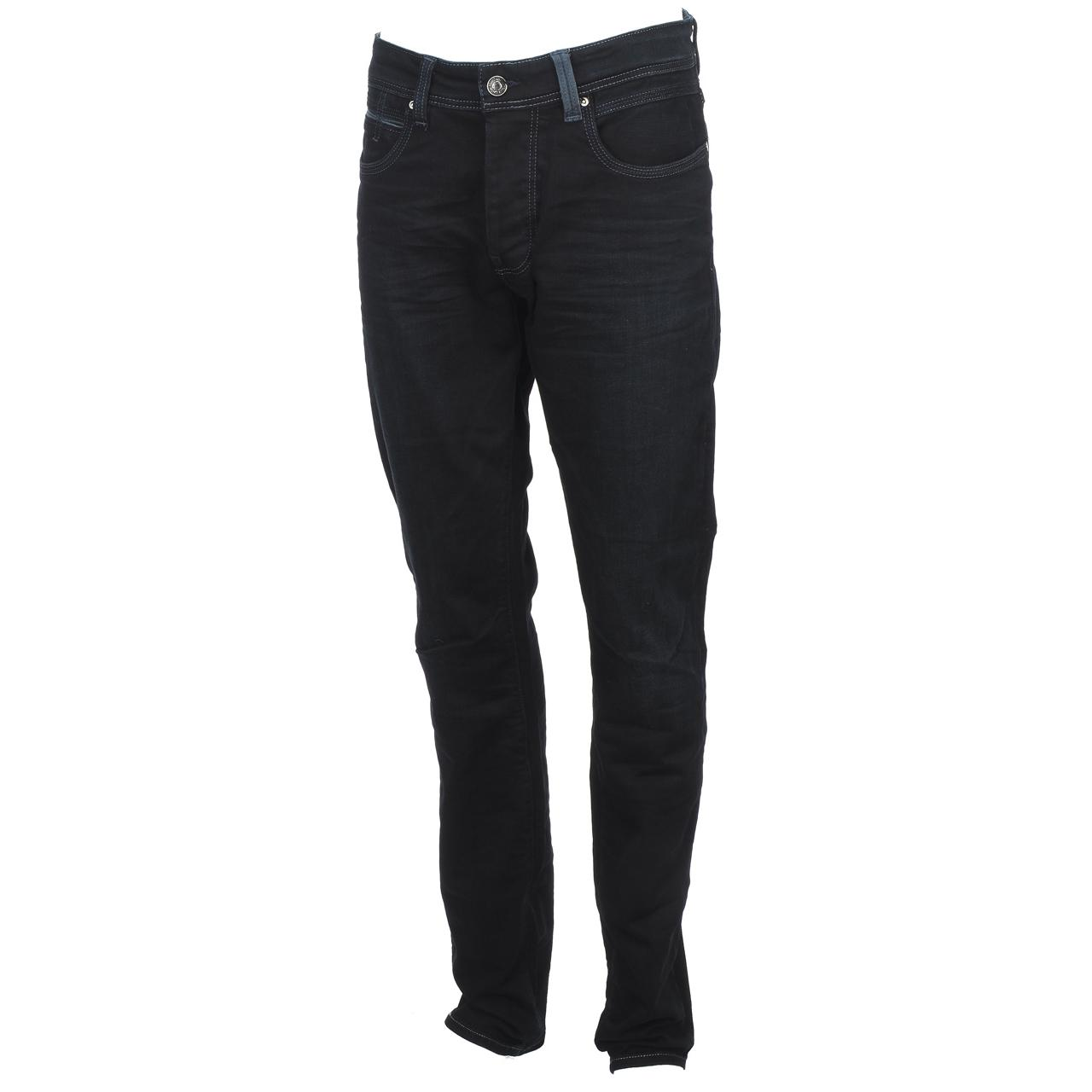 Trousers-Slim-Jeans-Teddy-smith-Rope-Reg-Comf-Usedoldencr-Blue-59500-New