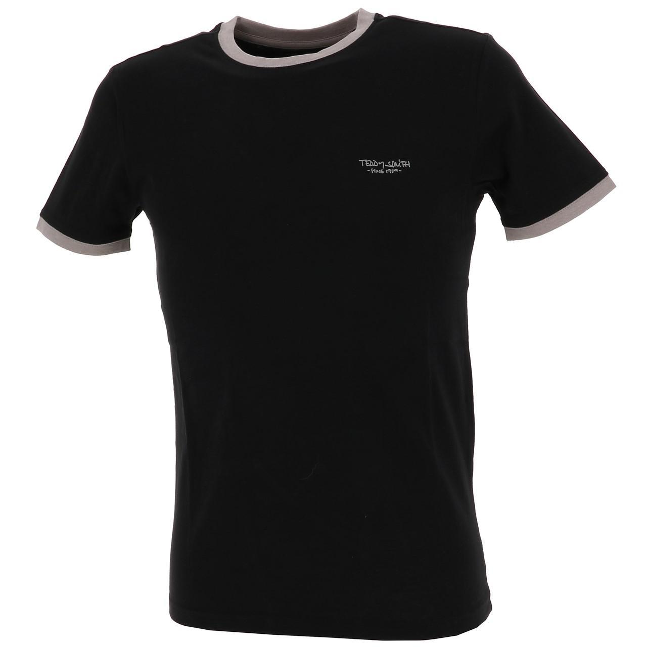Short-Sleeve-T-Shirt-Teddy-Smith-the-Tee-Mc-Black-Black-65767-New