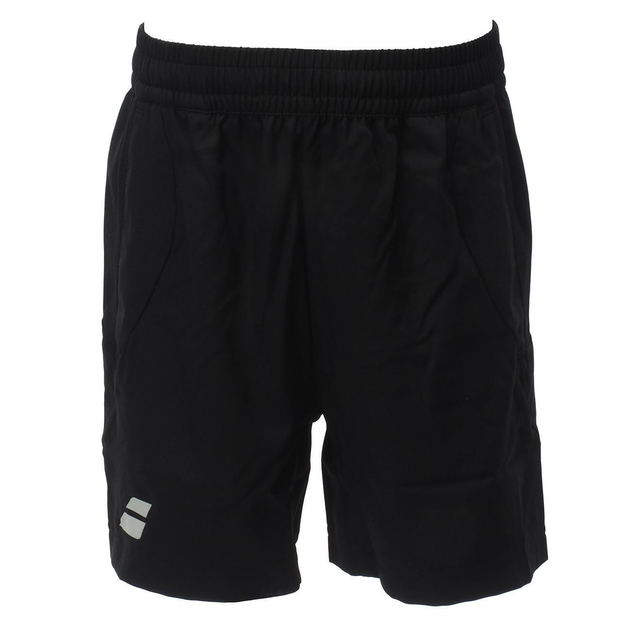 Short-de-tennis-Babolat-Short-core-black-kid-Blanc-70503-Neuf