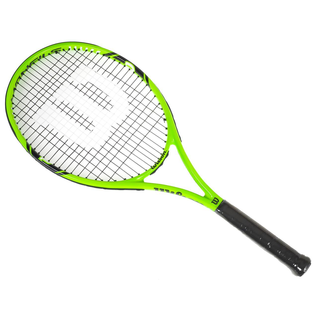raquette de tennis wilson monfils 100 rkt vert 71066. Black Bedroom Furniture Sets. Home Design Ideas