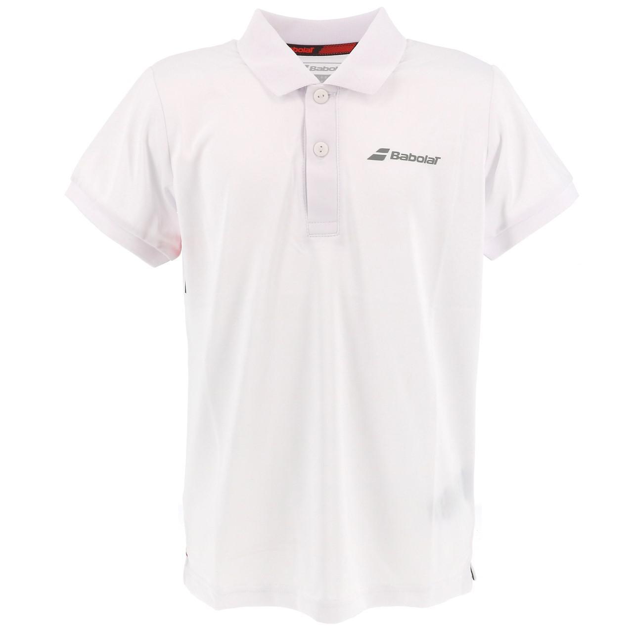 Polo-Von-Tennis-Babolat-Polo-Kind-Weiss-Weiss-71214-Neu