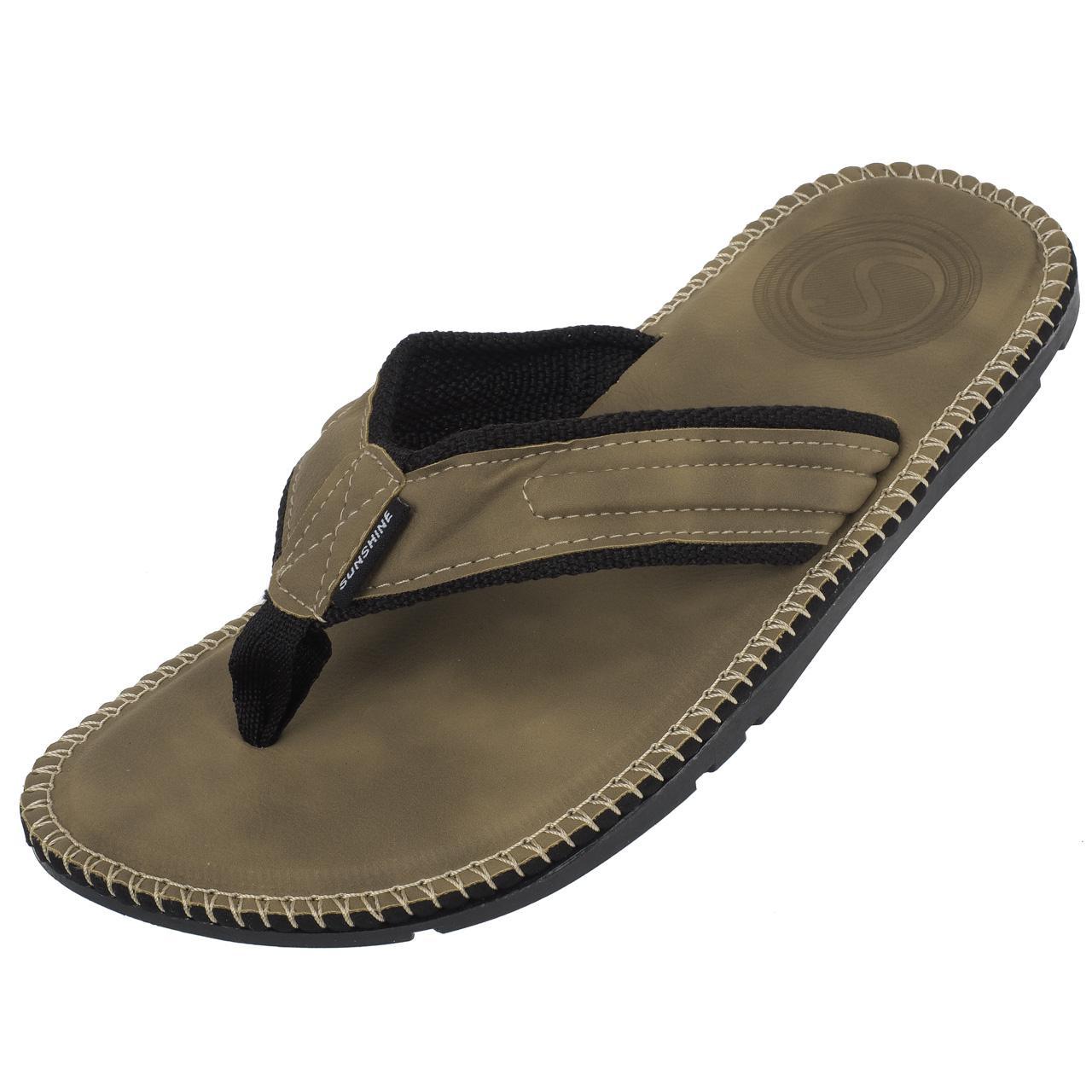 Flip-Flops-Tap-Dance-Shoes-Treeker9-Barbados-Beige-Flip-Flop-H-Beige-77481-New