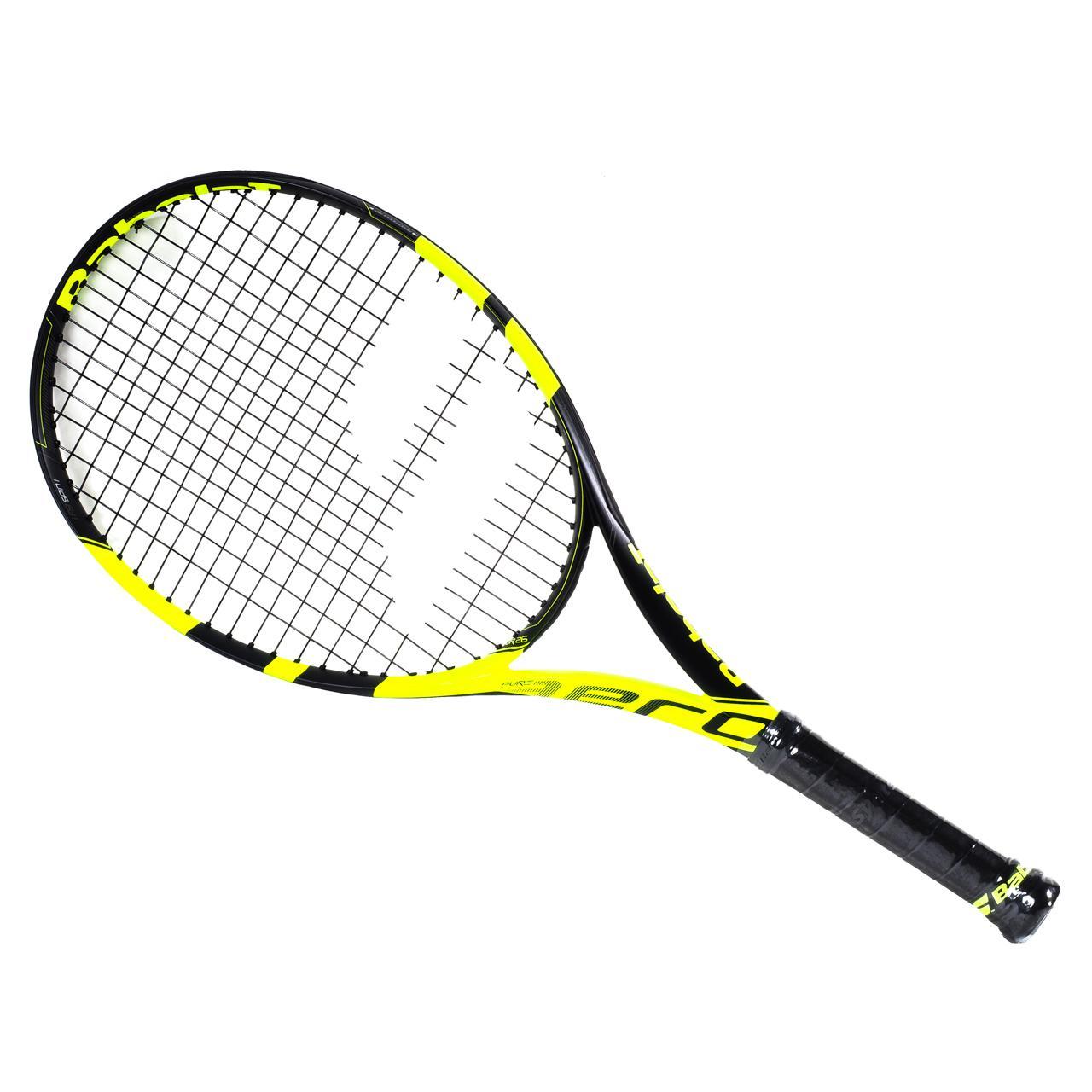 raquette de tennis babolat pure aero jr 26 2016 noir 78305 neuf ebay. Black Bedroom Furniture Sets. Home Design Ideas