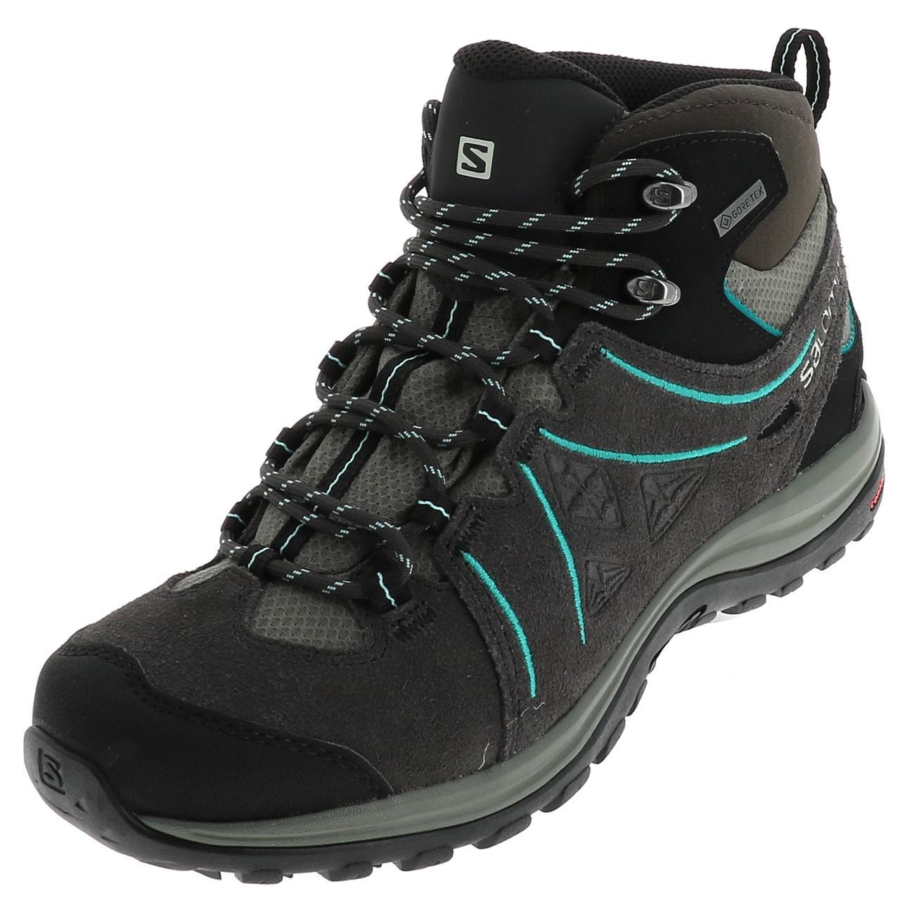 Détails sur Chaussures marche randonnées Salomon Ellipse mid ltr gtx anth l Gris 90752 Neu